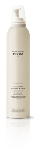 Previa - Style and Finish - Extra Firm Styling Mousse - 18,95 - 300 ml - hairsuite.nl_weerspiegeling_web